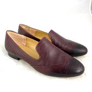 Talbots ombre leather loafers slip on flats